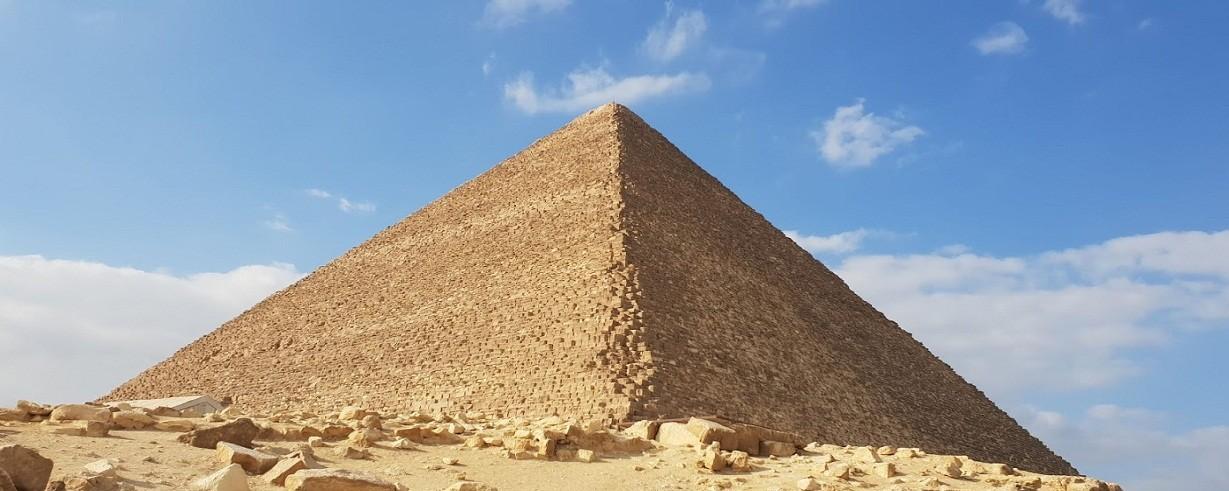 Cheops Pyramide auf dem Plateau von Gizeh