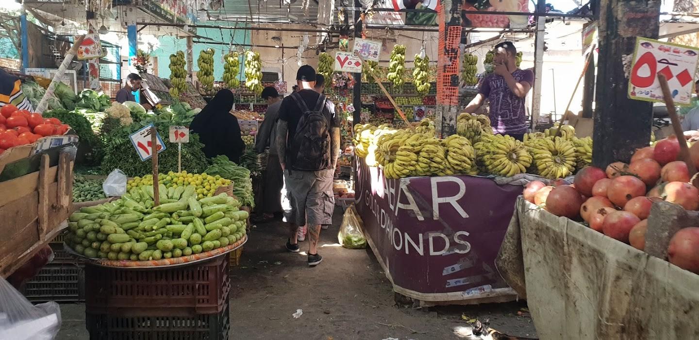 Obst Markt in der Altstadt El Dahar
