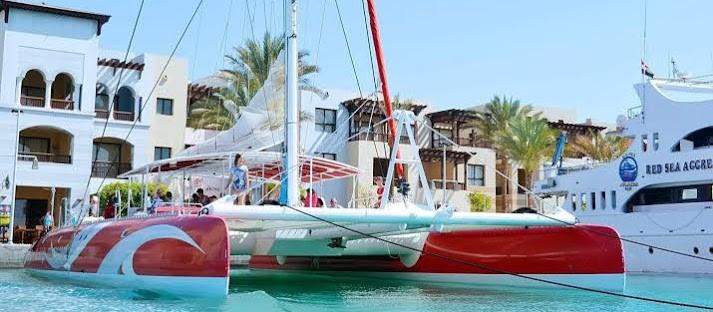 Ocean Diva Katamaran Tour vor El Gouna - Soma bay