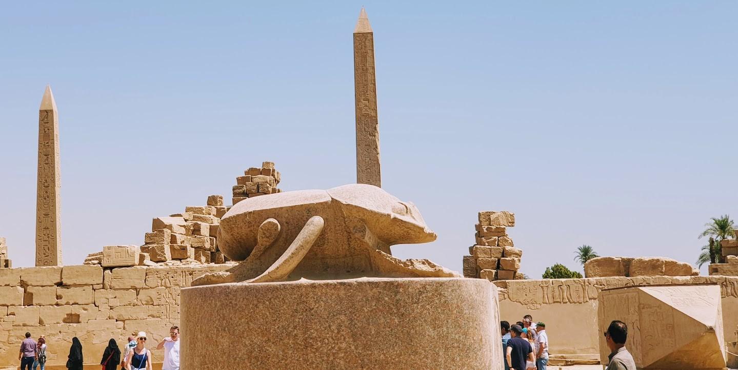 privater ausflug von hurghada nach luxor die Kaefer, beim dem Heiligen See in Karank Tempel, ausflüge hurghada