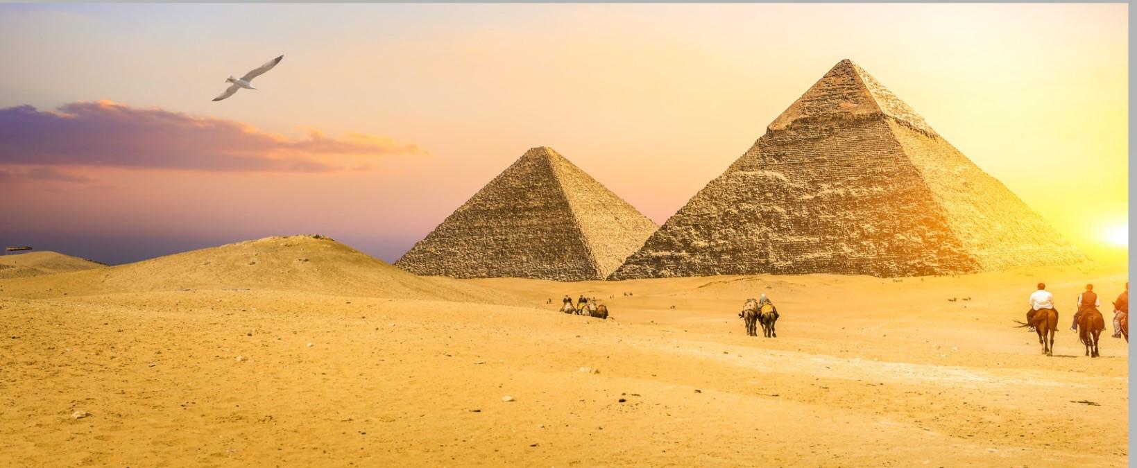 die drei pyramiden auf dem plateau von gizeh, Tagesausflug nach Kairo mit dem Flugzeug ab Marsa Alam