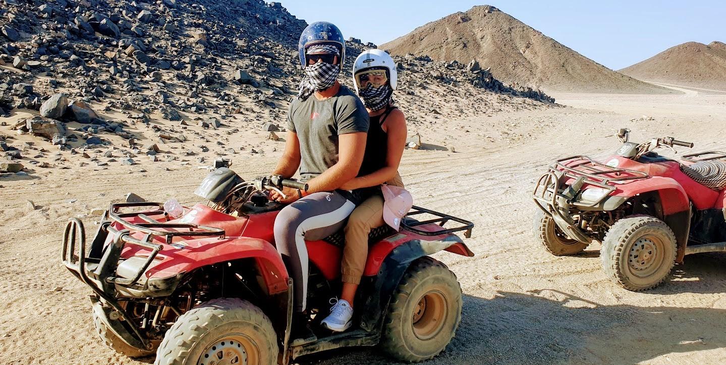 quad fahren von Makadi bay