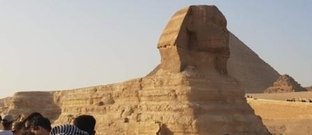 die Sphinx von Gizeh mit den Pyramiden individueller Ausflug von el gouna nach kairo